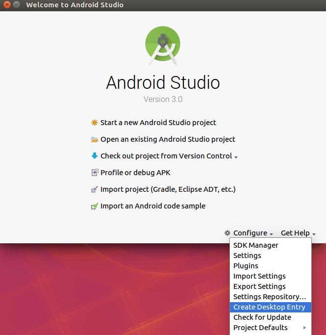 Create Desktop Shortcut for Android Studio in Ubuntu