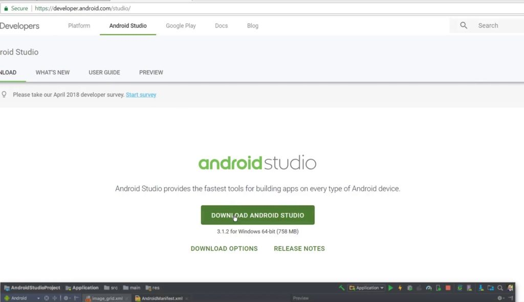 install android studio on your computer