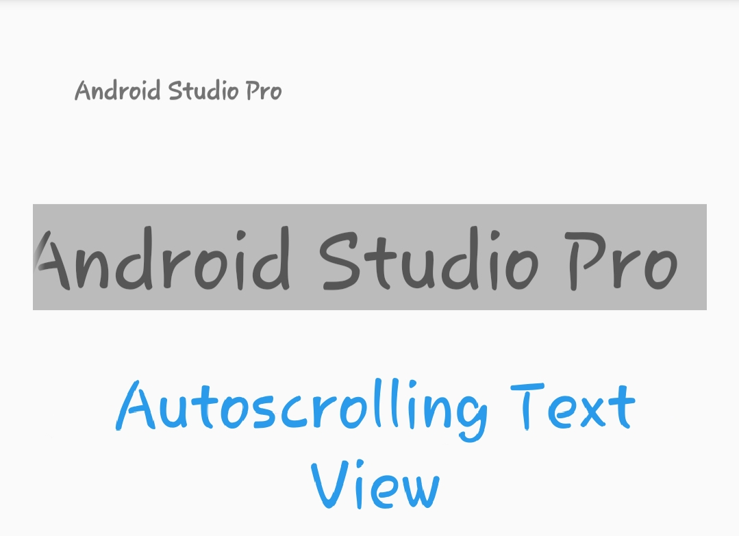 autoscrolling textview in Android