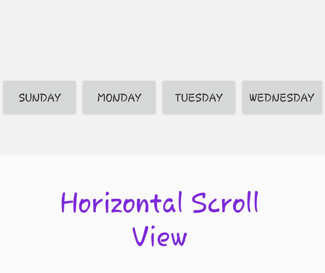 horizontal scrollview in Android