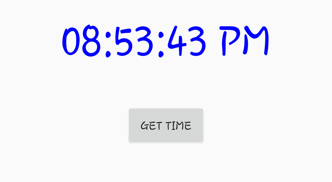 Text Clock in Android studio