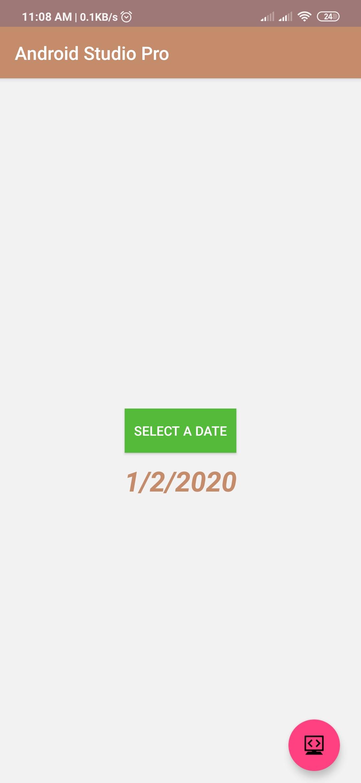 Date Picker code example