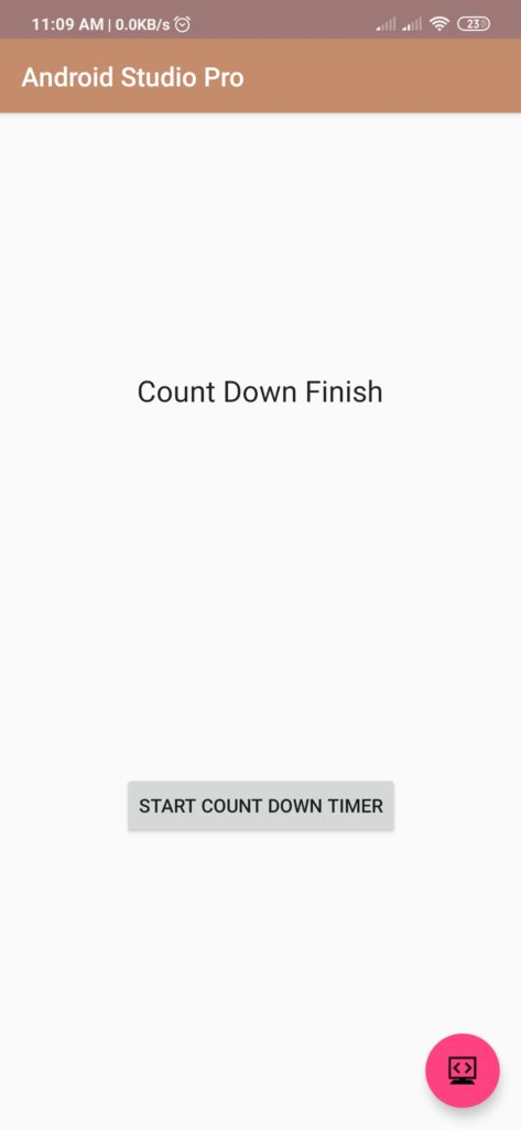 Count Down Timer Code