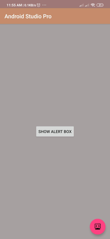 Alert Dialog Box Code