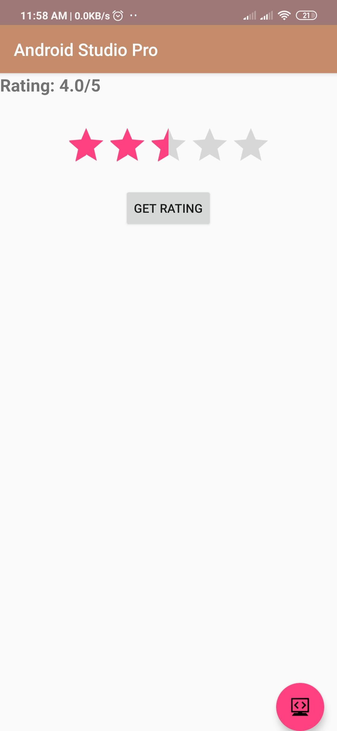 android rating bar