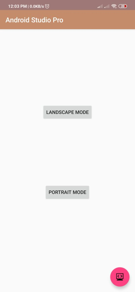 screen rotation android