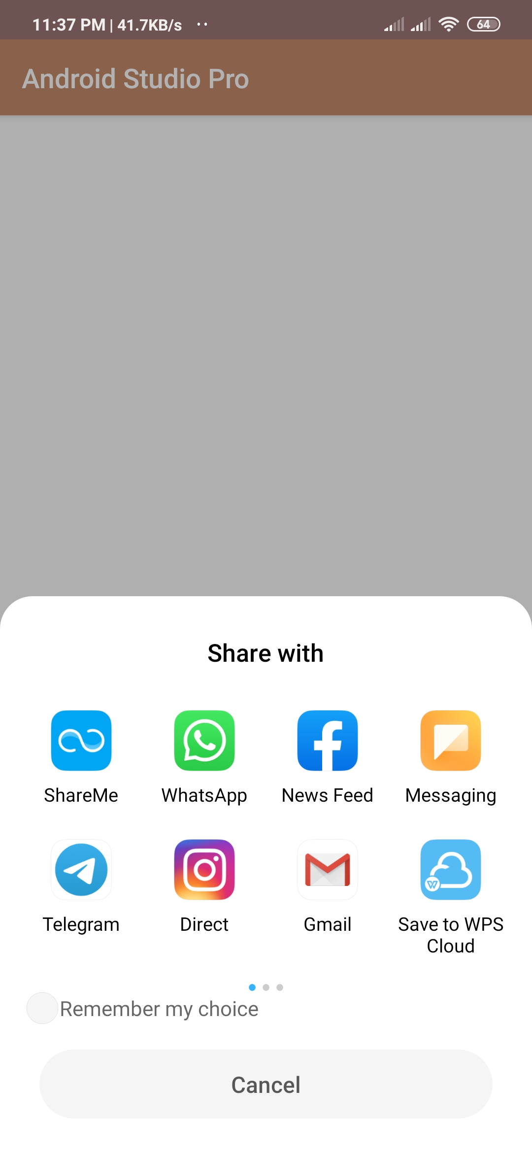 share app in android programmatically