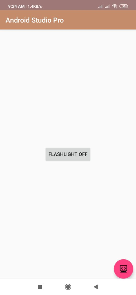 flashlight source code android studio