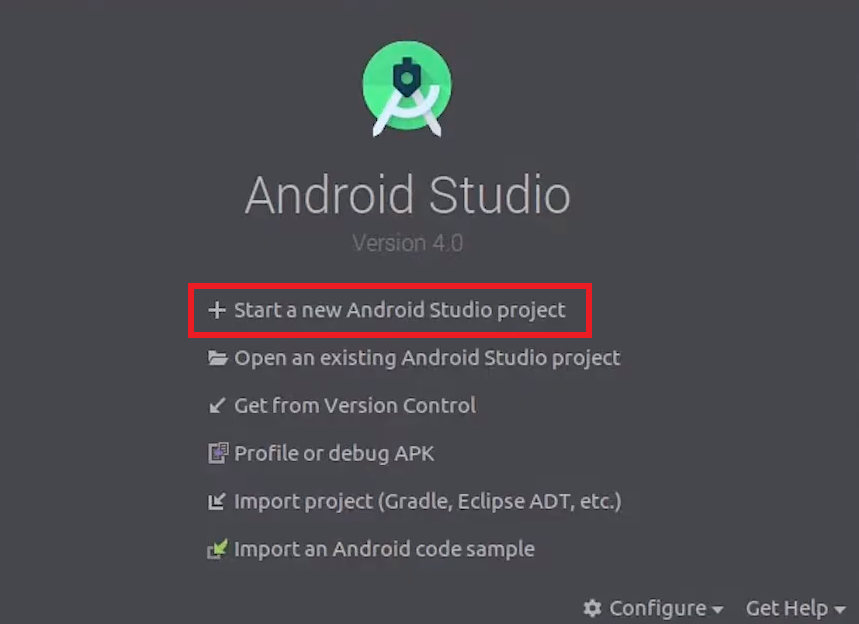 How To Create Project in Android Studio using Kotlin