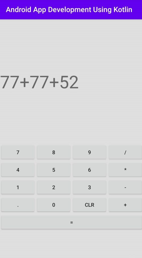 Android Calculator in Kotlin