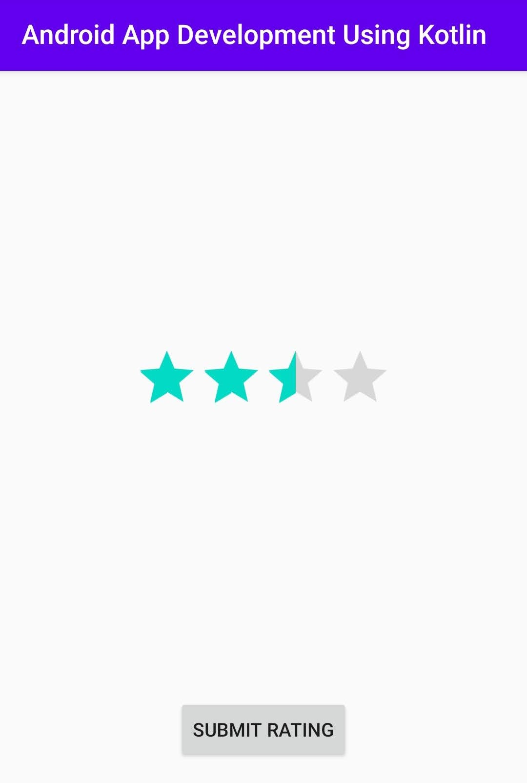 Ratingbar Android Studio Kotlin language