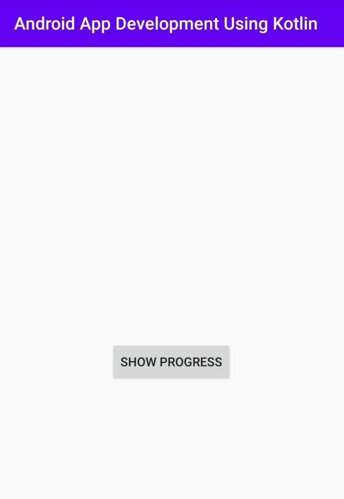 progress dialog in Android